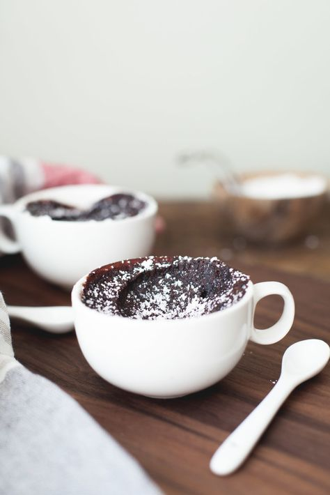 This chocolate mochi mug cake is a moist rich chocolate cake that's similar to a brownie, but incredibly stretchy and chewy and takes only 3 minutes!