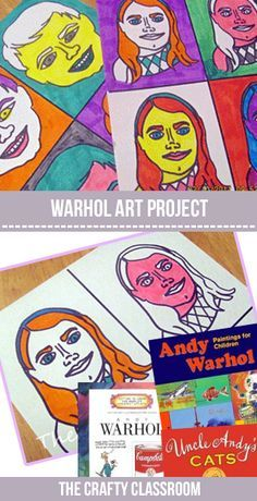 Step by Step to create warhol inspired self portraits
