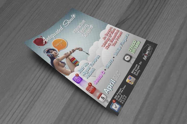 Text Me Flyer Design