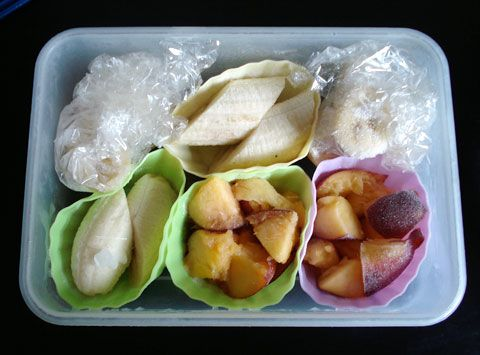 Quick Tip: Frozen Fruit Cups plus Soy Milk & Fruit Smoothie (Bento staple)