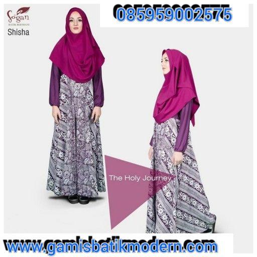 Gamis batik modern abaya terbaru  Siap diorder   Design simple dan elegant  Hub. 085959002575 BBM 53899867  www.gamisbatikmodern.com