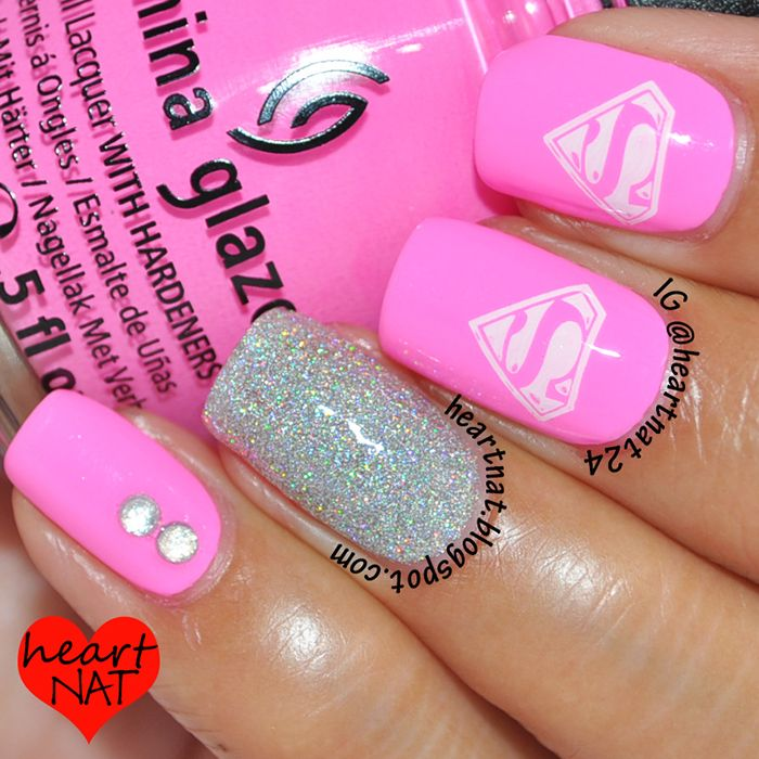 Pink supergirl nails would be cool too! But then again my son would probably like the traditional colors better.