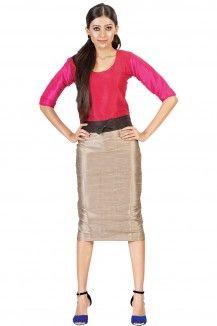 Colour Block Pencil Sweep Dress