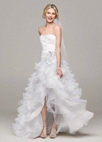 Ultra chic and over-the-top, this strapless taffeta gown is perfect for any true fashionista bride wanting to stand out!