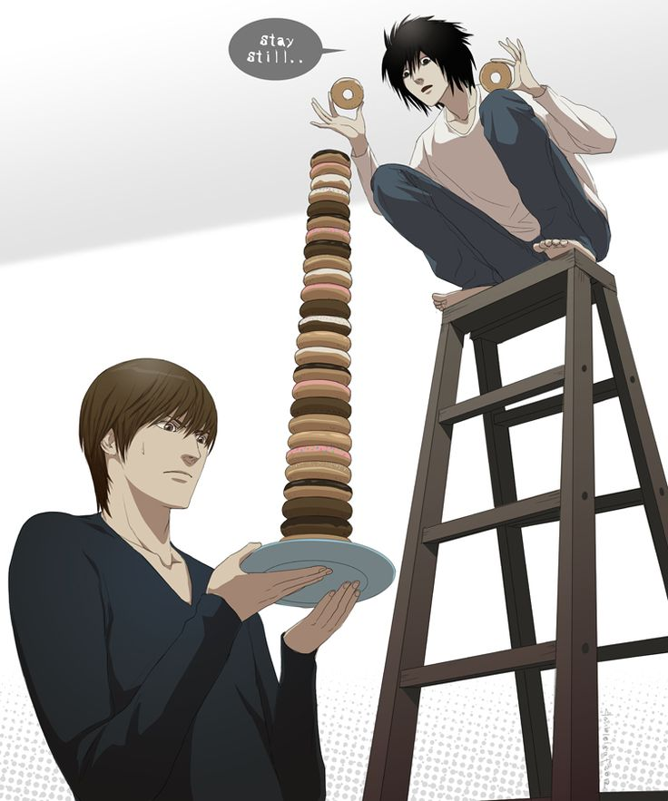 Important matters come first like constructing a a donut tower  then finding out who is Kira