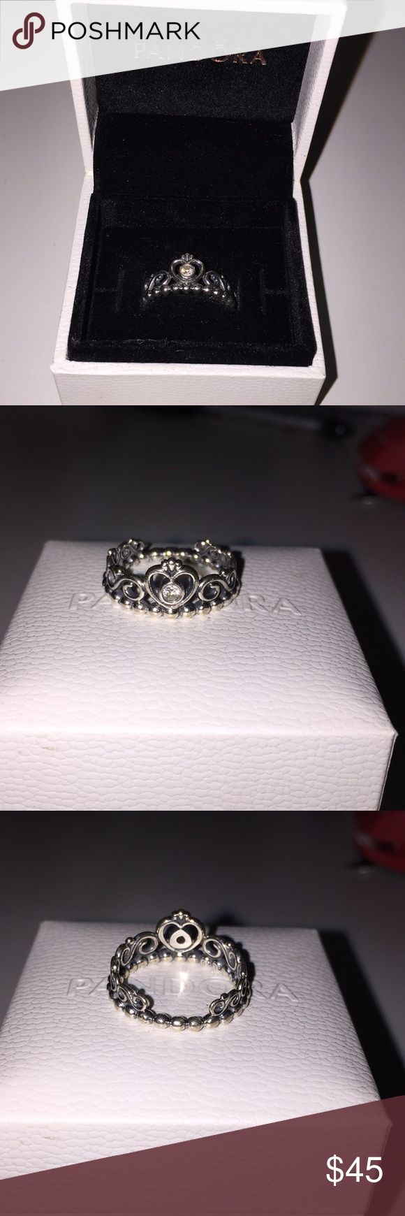 Pandora Princess Ring Worn a handful of times. Nothing wrong with it. It's just too big for me. Pandora Jewelry Rings
