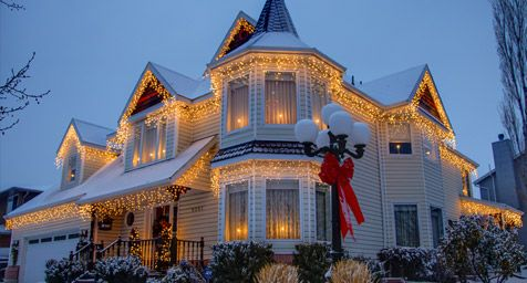Outdoor Christmas Lights Ideas For The Roof Home