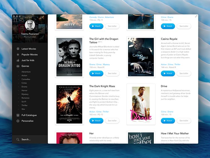 Stream Movies (desktop app) I've always wanted a movie app like this.