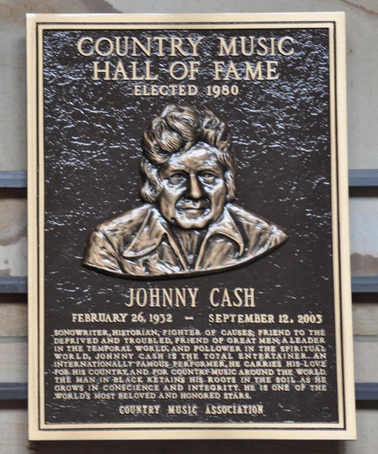 country music hall of fame plaques country music hall of fame johnny cash 39 s plaque. Black Bedroom Furniture Sets. Home Design Ideas