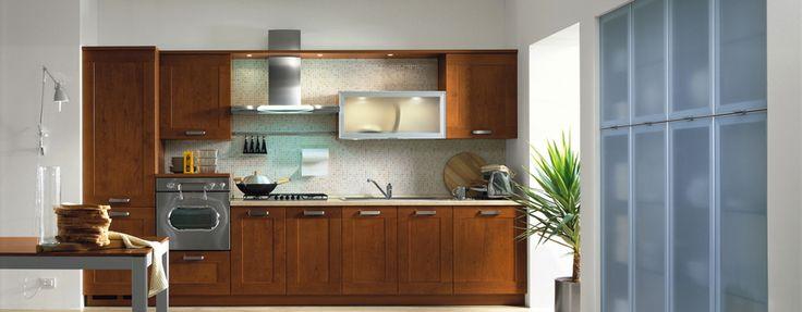 Cherry, Cucina Contemporary, Forma 2000 Una cucina dallo stile rassicurante. Intramontabile; il telaio in legno e la finitura in ciliegio ne fanno un classico dell'arredamento. Riscalda l'ambiente e lo rende confortevole.