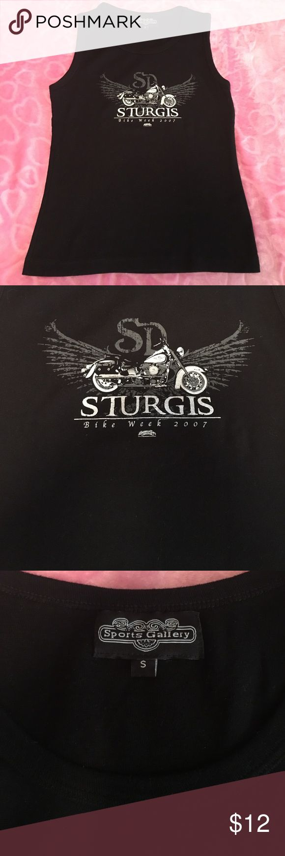 Sturgis Tank Sturgis Bike Week 2007 tank. Black with Sturgis Logo. Never worn. Perfect condition. Stretch Material. Size Small. 🎀 Sports Gallery  Tops Tank Tops