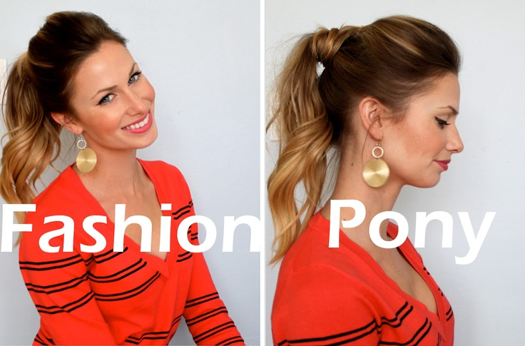 Another take on the wrapped ponytail, this one with a bit of curl. There's a tutorial, too.
