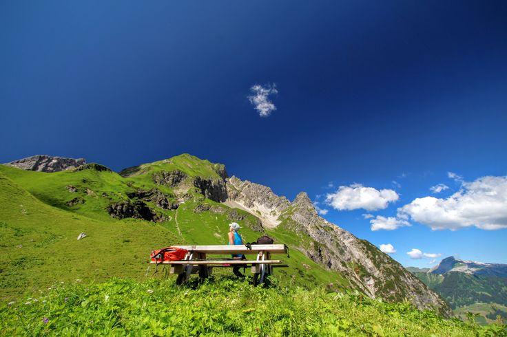 Wandern im Wildental und eine kleine Pause geniessen #hinterwildenalpe #Wildental #kleinwalsertal #vorarlberg #austria #wandern