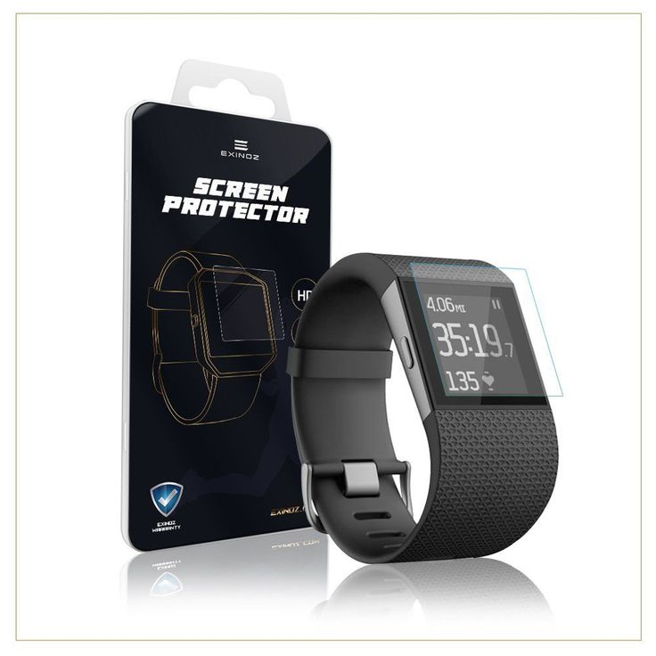 EXINOZ Fitbit Surge Screen Protector I Protection with Replacement Warranty  I Get the Best for Your Fitbit Surge Smart Watch Easy to install and precis