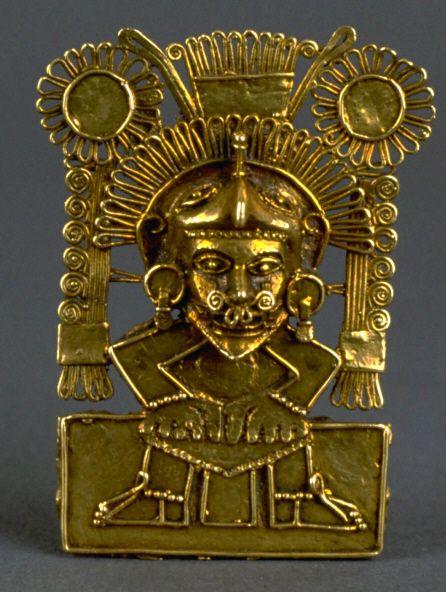 Mixtec gold pectoral pendant representing Quetzalcoatl   AD 1400-1521   Oaxaca, Mexico