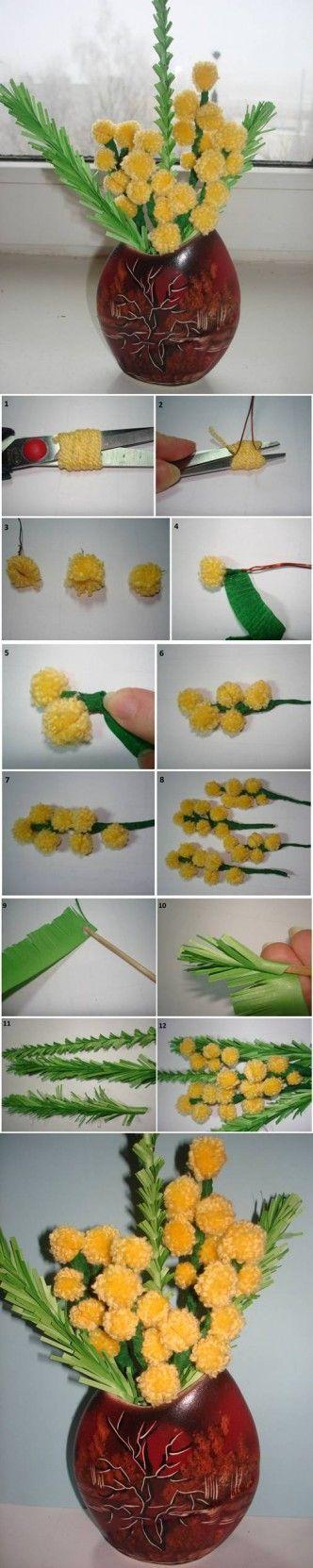 DIY Mimosa Flower Bouquet DIY Projects