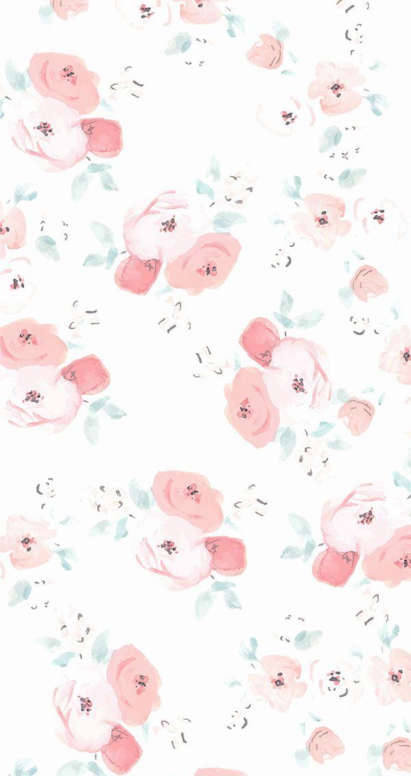 Floral iPhone wallpaper by LaurenConrad.com