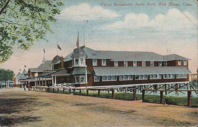 1909 Postcard - Wilcox Restaurant - Savin Rock West Haven CT