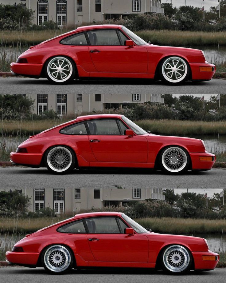 Our favourite three aftermarket rim options for a 964 - top Fifteen 52 outlaw 001, middle Rotiform LHR and bottom BBS RS. What's your favourite out of these or any others? | Cr: Jason Paul #cult911 #porscheartdaily #porsche #fifteen52 #rotiform #bbs...