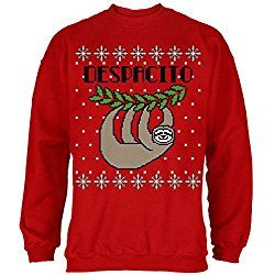 ac64f71d Sloth Ugly Christmas Sweater, Despacito Means Slowly Sweatshirt Red ...