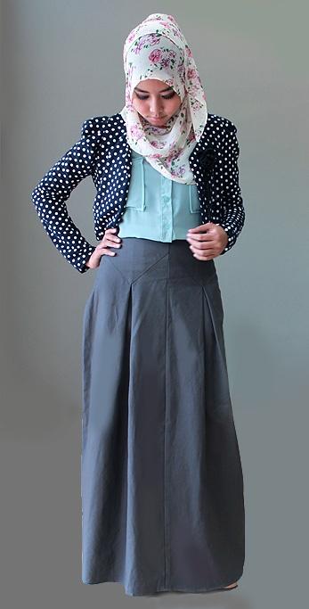 muslim fashion magazine abayatrade.com   Box Pleat Skirt -