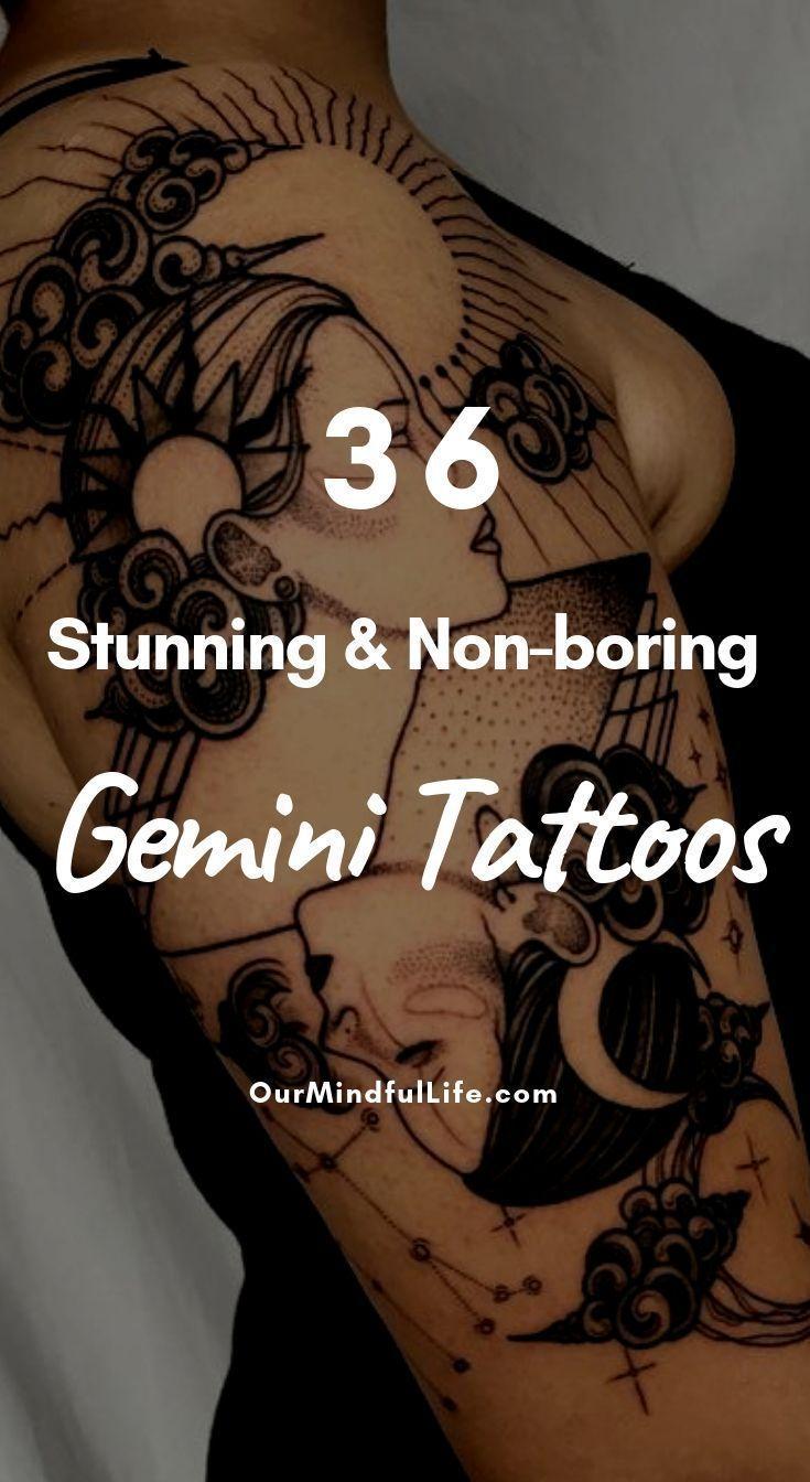 36 Stunning And Non Boring Gemini Tattoos Tattoo Ideas
