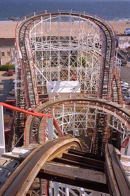 Coney Island - Cyclone roller coaster, Brooklyn, NY