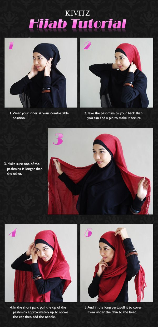 Hijab Tutorial...just in case I ever get to the middle east.