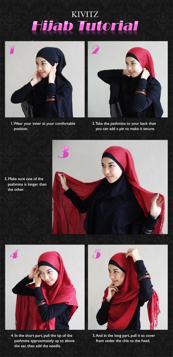Pashmina Hijab Tutorial by kivitz