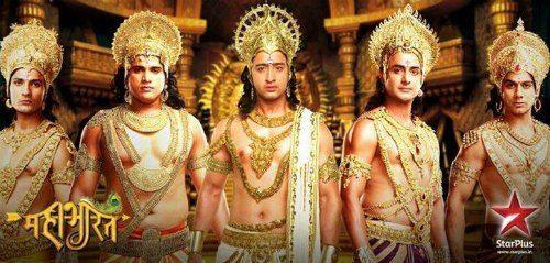 Pandava. From left to right; Nakula, Bheem, Arjun, Yudhistir, Sahadev