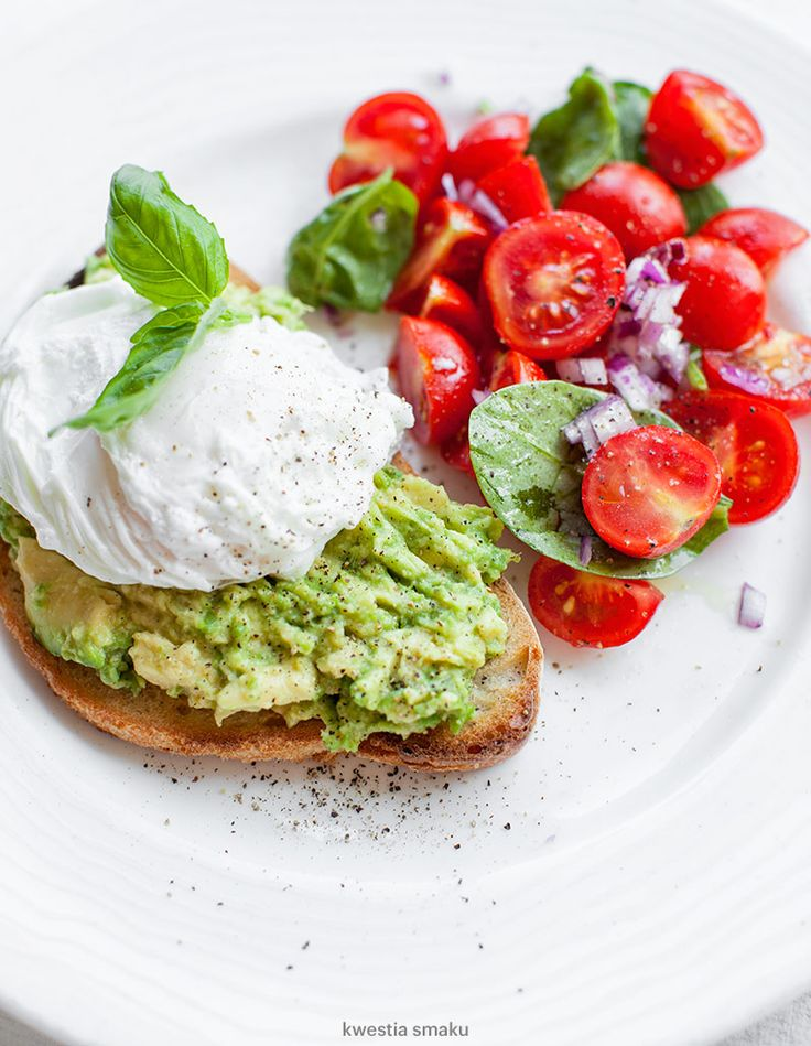 Poached Egg and Avocado Bruschetta
