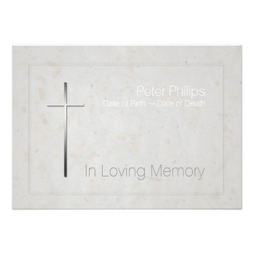 38 best Religious Funeral Announcement images on Pinterest - funeral invitation templates