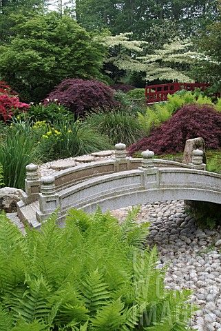 17 best images about gardens with bridges on pinterest for Japanese style bridge