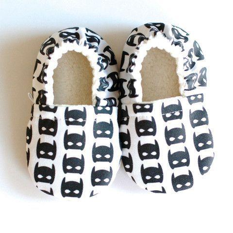 Batman Sahnda Marie Kids handmade soft sole baby shoes