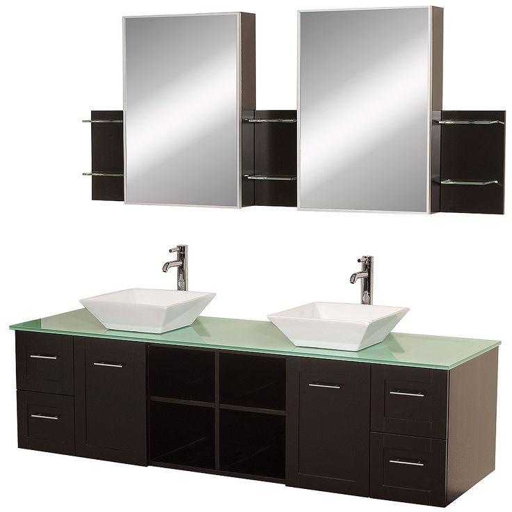 Avara 72  Wall Mounted Double Bathroom Vanity Set   Espresso   Bathroom  Vanities. 155 best RTA Bathroom Vanities images on Pinterest   Bathroom