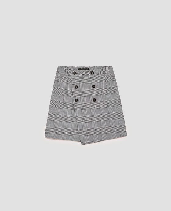 Image 8 of CHECKED BUTTONED SKIRT from Zara