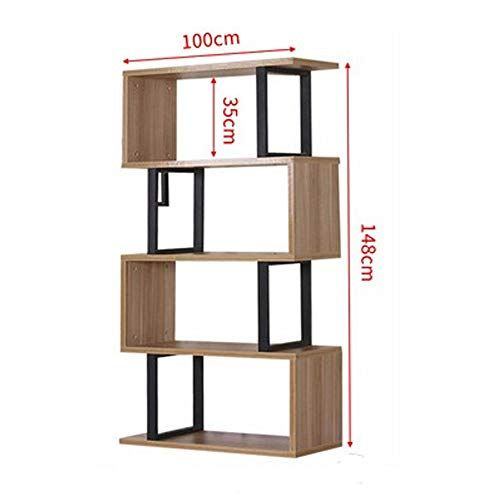 Xiao Min Bookshelf Modern Minimalist Bookcase Display Cabinet Living Room Partition Cabinet Floor Standing Bookcase Solid Wood Shelves Wood Shelves Bookcase