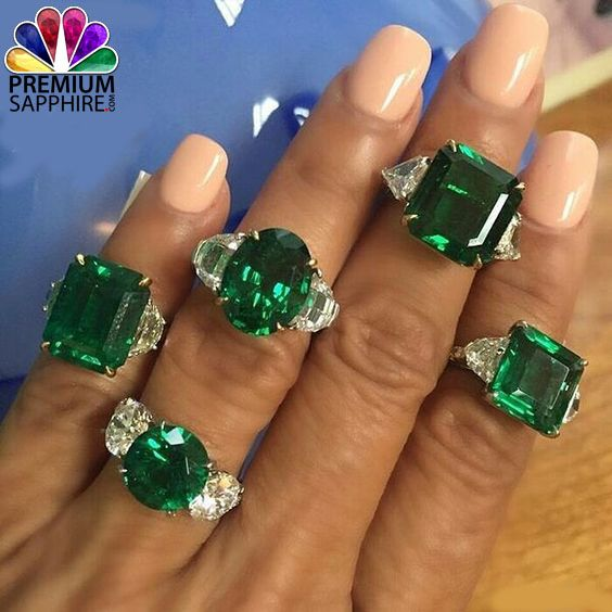 Feel the beauty of the gemstones with this Emerald and diamond rings @ https://goo.gl/XpSYvo