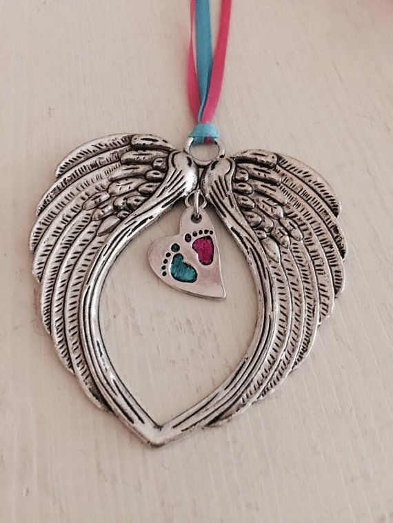 Pregnancy Loss Remembrance Angel Wing by SoulCysterCreations