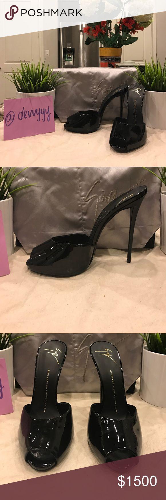 Giuseppe Giuseppe Zanotti black peep toe heels 😍 Beautiful and never been worn 😍 no signs of flaws Giuseppe Zanotti Shoes Heels