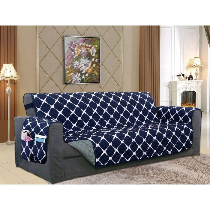 Reversible Furniture Protector Box Cushion Sofa Slipcover Patterned Furniture Cushions On Sofa Furniture