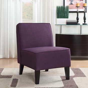 Roxbury Fabric Slipper Chair In Purple Unique Things