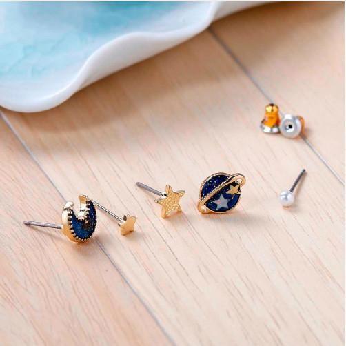 Super Cute Gold Plated Galaxy Earrings