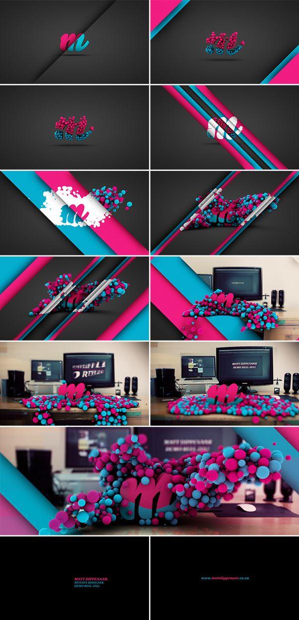 Demo Reel 2012. by Matt Dippenaar, via Behance