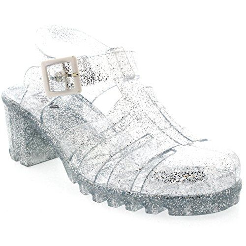 Womens Buckle Jelly Festival Vacation Retro Gladiator Mid Heel Sandals - Clear Glitter - 9 - 40 - CD0116 Viva http://www.amazon.com/dp/B00SBEXREI/ref=cm_sw_r_pi_dp_H9I5wb0N8XKAS