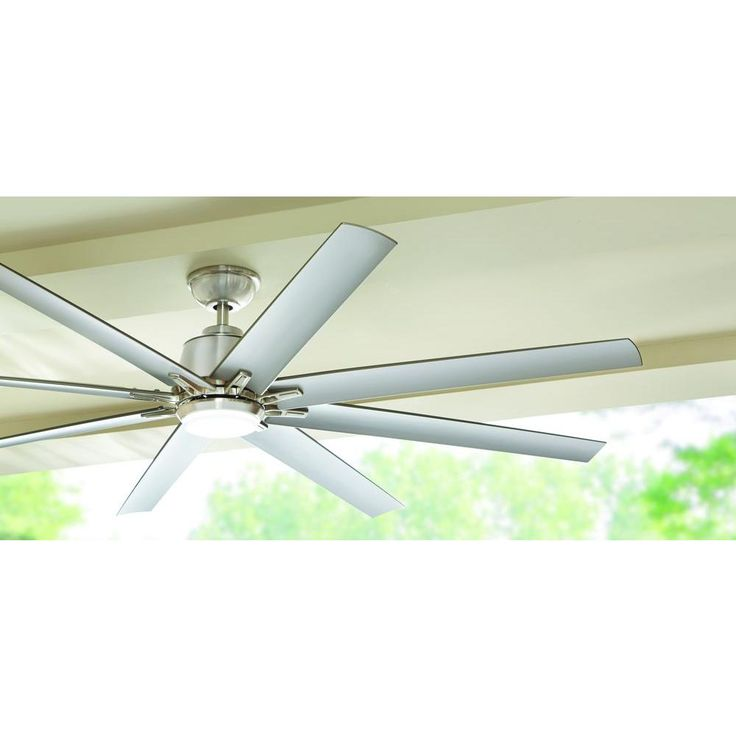 Home Decorators Collection Kensgrove 72 In Led Indoor Outdoor Brushed Nickel Ceiling Fan With Light Kit Ceiling Fan Ceiling Fan With Light Bronze Ceiling Fan