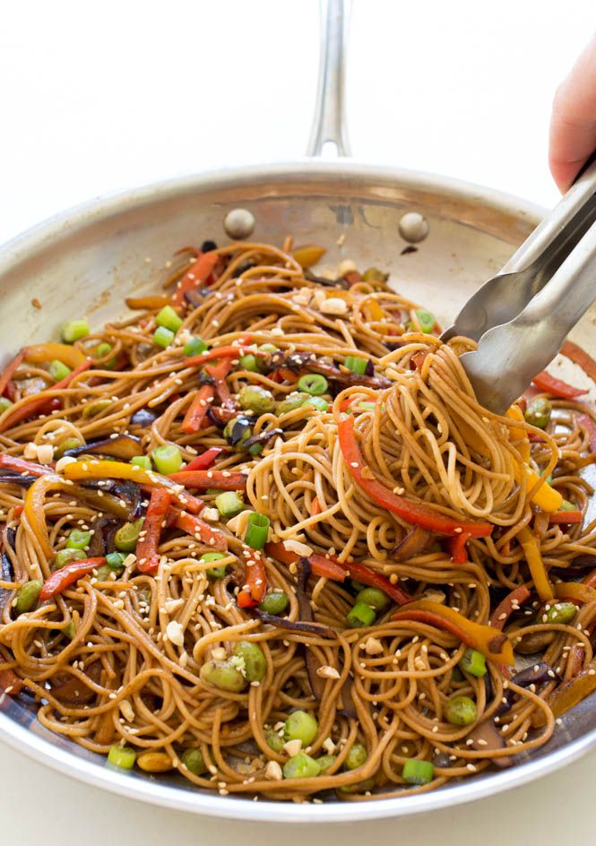 Rainbow Vegetable Noodle Stir-Fry on MyRecipeMagic.com