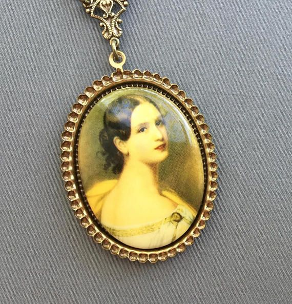 Victorian Necklace Cameo Necklace Victorian Jewelry