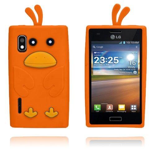 And (Orange) LG Optimus L5 Cover