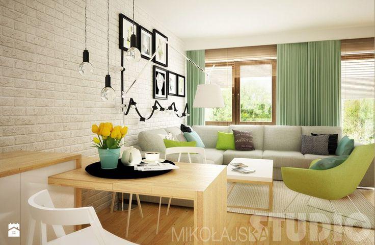 Mieszkanie w pastelowych kolorach Salon - zdjęcie od MIKOŁAJSKAstudio